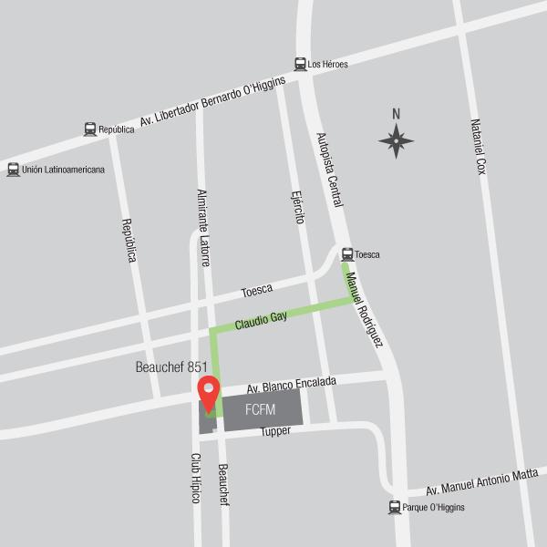 Beauchef 851 map